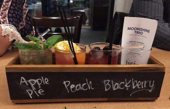 Brio Coastal Bar and Kitchen's Moonshine Trio Cocktail.