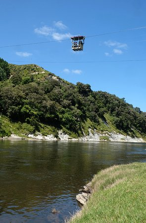The Flying Fox: Cable car across the river