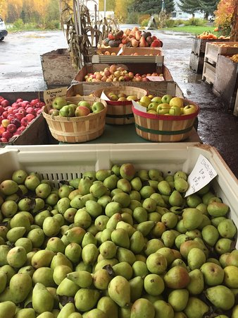 Parkdale, OR : Pre-picked apples, fruits, and vegetables are available.