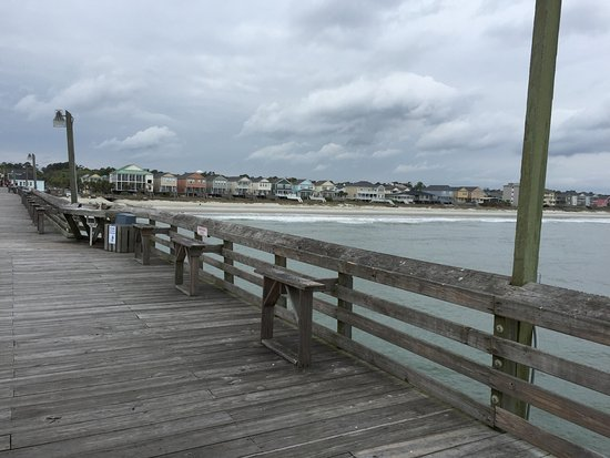 Surfside Beach, SC: View from Surfside Pier in April 2016.