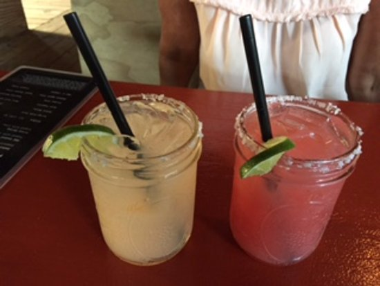 Tin Box: Grapefruit and watermelon margaritas