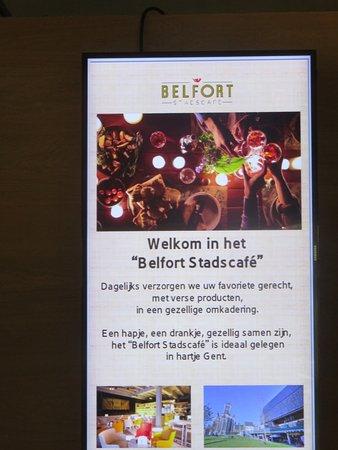 Belfort Restaurant: Wervingskaart Stadscafé