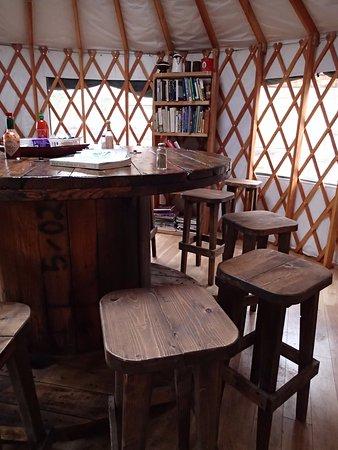 McCarthy, AK: In the yurt.