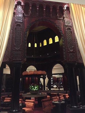 Lounge gazebo in lobby area.