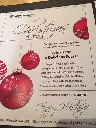 christmas buffet description chicago joe s 1808 wellington ave victoria inn hotel winnipeg