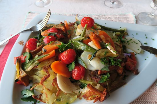 Champex, Suiza: Vegetarian rosti (I still dream of this!)
