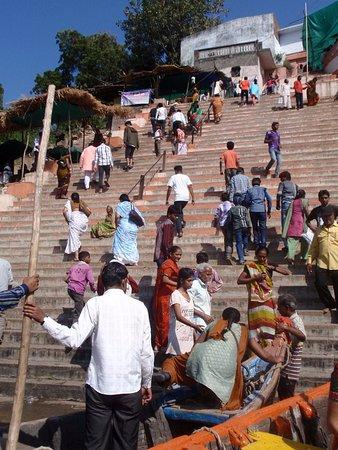 Kuber Bhandari Temple: From Narmada bank below