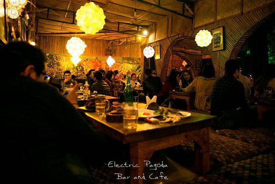 Electric Pagoda Bar Cafe Nepal Style Seating