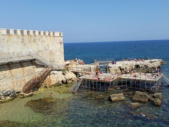 Swimming platform near hotel on ortigia picture of for Hotels in ortigia