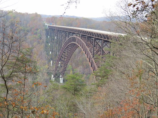 Lansing, Virgínia Ocidental: New River Gorge Bridge from VC
