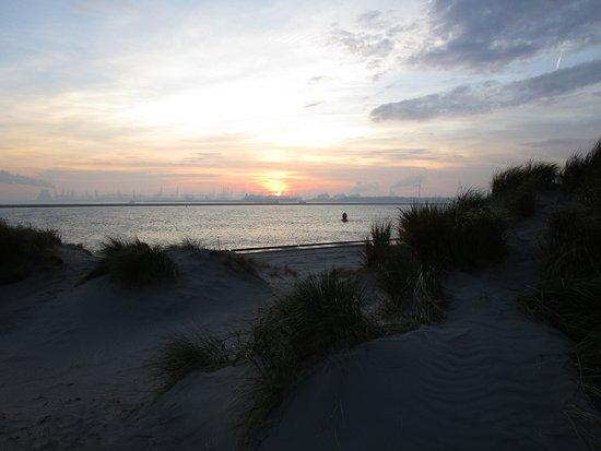 Hoek van Holland, เนเธอร์แลนด์: uitzicht op de maasvlakte