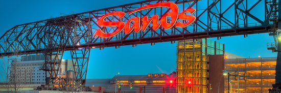 The entrance to the Sands Casino.
