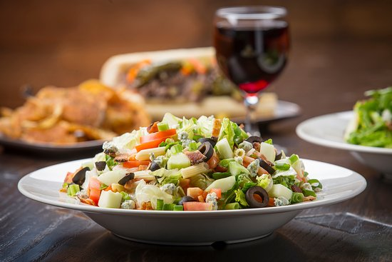 Hillside, IL:   Buona Chopped Salad With Wine