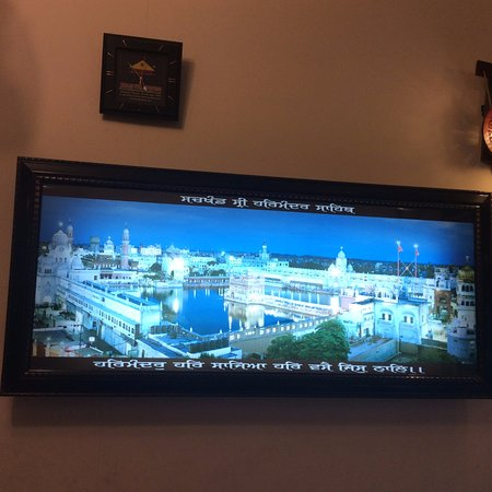 Hotel Holy City : A picture of The Golden Temple in the Hotel reception
