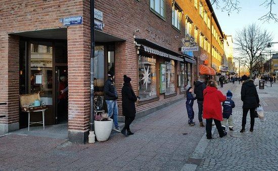 Ludvika, Schweden: Ny ingång på hörnet