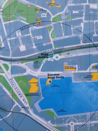 Maps Picture of Emirates Air Line Cable Car Royal Docks London