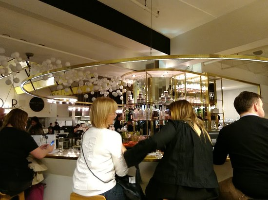 harvey nichols food market christmas eve drinks at what we called the food hall