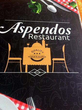Aspendos Restaurant: menü