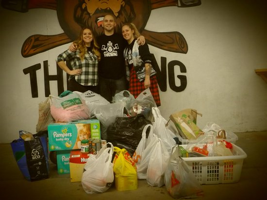 Ottawa, Canada: Bad Axe Coaches with the Donations!