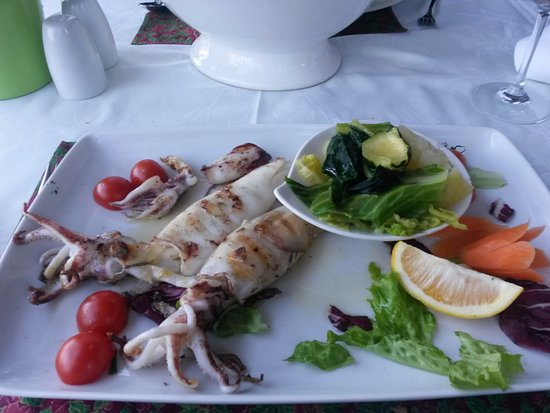 Mali Ston, Chorwacja: Delicious fresh Grilled Calamari