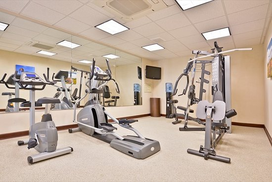 Arcola, IL: Our fitness center features a full wall of mirrors