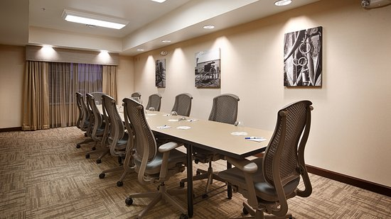 Arcola, IL: We can seat 12 - 14 people in our board room and can meet all of your business needs