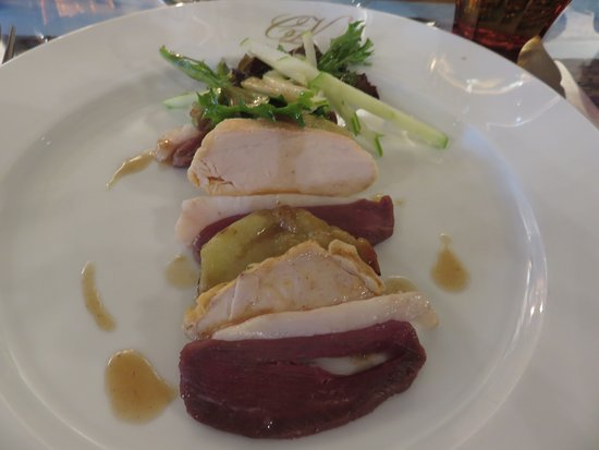 Monestier, France: Duck Salad at the brasserie
