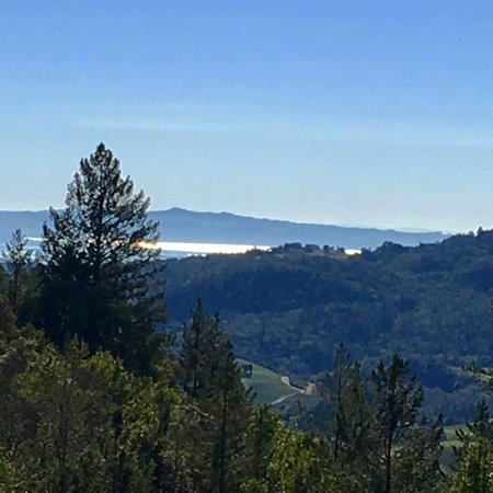 Napa Valley, CA: On a clear day far to the south and east