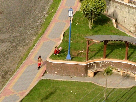 Hostal Chasqui : View from top floor; even the sidewalks are beautiful.