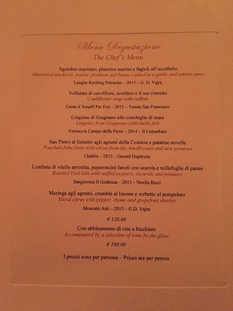 Six Course Chef S Menu With Wine Pairings From October 5