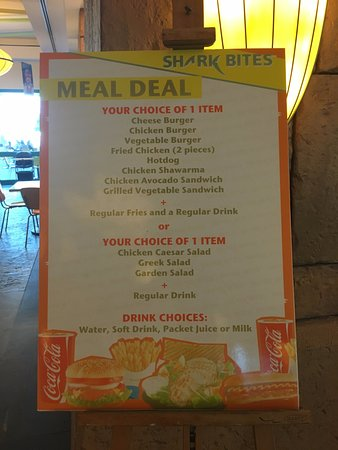 Aquaventure Waterpark: Meal deal options.