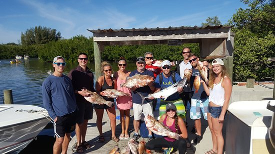 Placida, Флорида: Great day on the water. Took a while but we ended up catching a lot of fish. Partnered with Wise