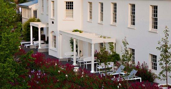 New Norfolk, Australia: The terrace and garden