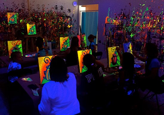 Phenomenal Black Light Family Paint At Smudge Picture Of Smudge Art Home Remodeling Inspirations Genioncuboardxyz