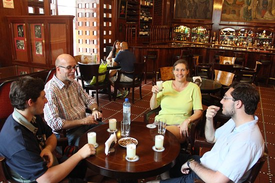 Pisco Sour at Hotel Maury was sweet end to our Lima Walks tour
