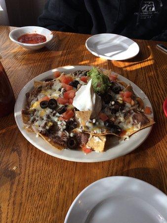 Scotia, Californië: Beef nachos