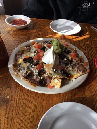 Scotia, Califórnia: Beef nachos