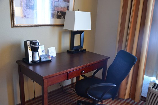 Holiday Inn Express Hotel & Suites Amarillo South: In room coffee and desk area