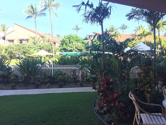 Maui Schooner Resort: View from our ground-level patio.