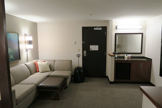 Hyatt Place Portland Airport / Cascade Station: Living Room Area (Sofabed)
