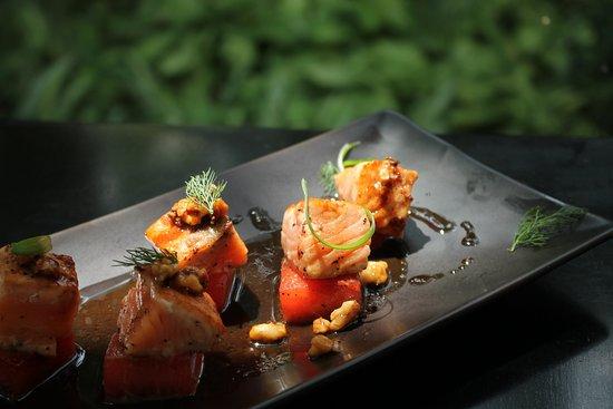 Azul Restaurant : Tataki de Salmón y Sandia