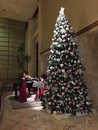 The Ritz-Carlton, Seoul - TEMPORARILY CLOSED: RestaurantのThe Garden前のツリーとピアノ演奏