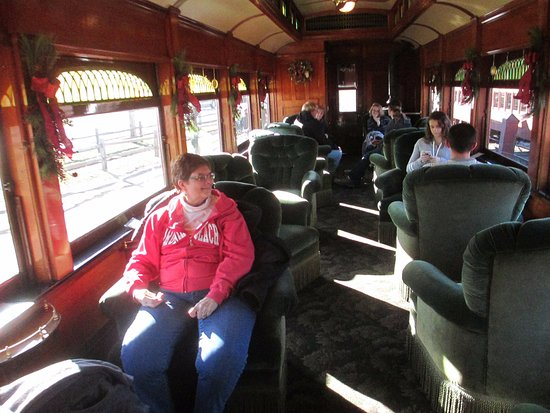 Ronks, PA: comfy chairs in the parlor car (not coach)