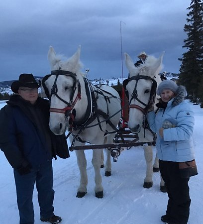 Two Below Zero Dinner Sleigh Rides: Our new friends...Cindy and Sandy