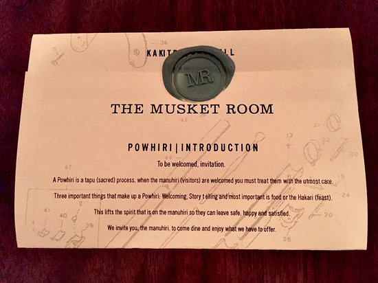 The Musket Room Tasting Menu