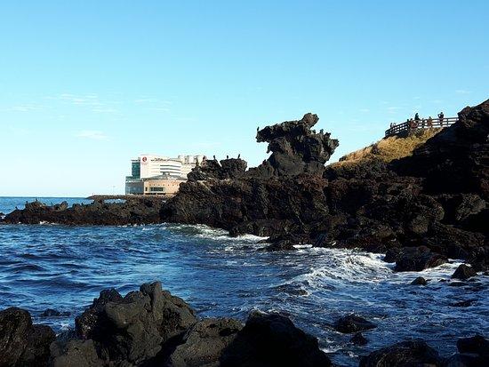 Yongduam Rock: Yongduam ( Dragon Head Rock) ~~~ Jeju island, South Korea!  LINE,kakao talk ID : jeju0328 WhatsA