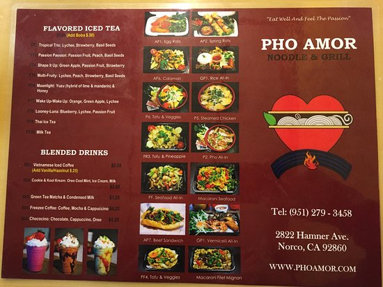 Norco, CA: Pho Amor Noodle & Grill