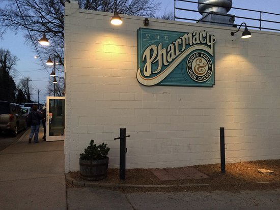 Exterior picture of the pharmacy burger parlor beer garden nashville tripadvisor for The pharmacy burger parlor beer garden