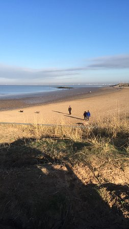 Whiston, UK: Leasowe Bay looking towards Liverpool