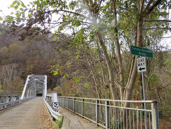 New River Gorge Bridge: Old One Lane Crossing of New River